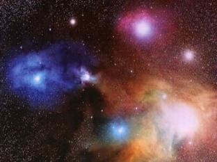 bintang warna-warni indah